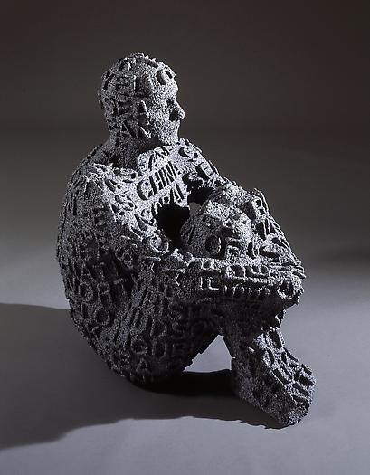 Self Portrait with Seas IV, 2006 Cast black marble 32 5/8 x 18 7/8 x 30 3/8 inches 83 x 48 x 77 cm