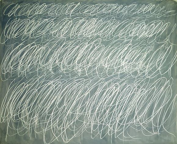 Untitled (Rome), 1970 Oil based house paint, wax crayon on canvas 63 3/8 x 77 3/4 inches 160.96 x 197.48 cm