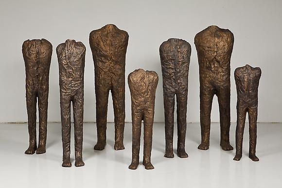 The Group of Seven, 2012 Bronze  Approximate group size, with spacing: 5 x 11 feet