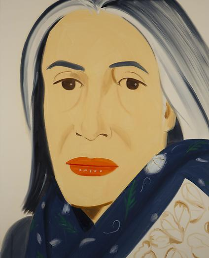 <i>Ada with Blue Scarf</i> (2012) Oil on linen 50 x 40 inches 127 x 101.6 cm