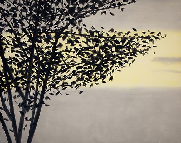 <i>Black Tree</i> (2009) Oil on canvas 96 x 120 inches  243.84 x 304.8 cm