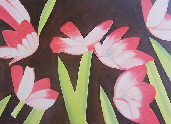 <i>Flowers</i> (2011) Oil on linen 48 x 66 inches 121.92 x 167.64 cm