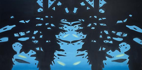 <i>Reflection 7</i> (2008) Oil on linen 108 x 216 inches  274.32 x 548.64 cm