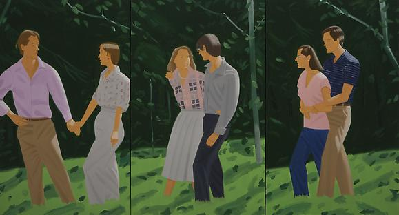 <i>Summer Triptych</i> (1985) Oil on canvas 78 x 144 inches  198.12 x 365.76 cm