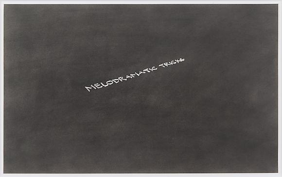 Melodramatic Tricks, 1976 Pastel on paper 14 x 22 5/8 inches 36 x 57.5 cm