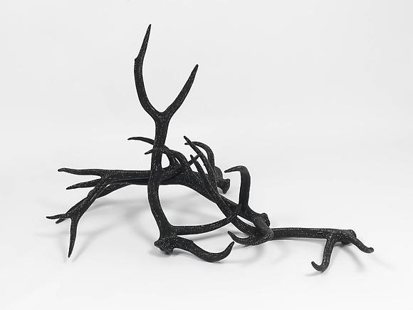 Untitled (Four Black Elk), 2010 Elk antlers, jet crystals, adhesive 34 x 43 x 60 inches 86 x 109 x 152 cm