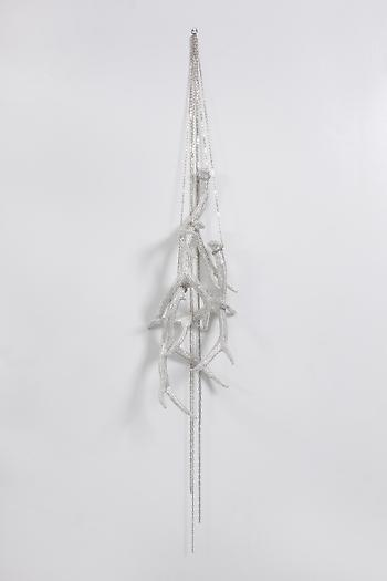 Untitled (Four Hanging Antlers), 2012 Antlers, crystals, adhesive, hardware, chain 50 x 10 x 10 inches 127 x 25 x 25 cm