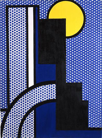 Modern Painting with Moon Shape, 1967