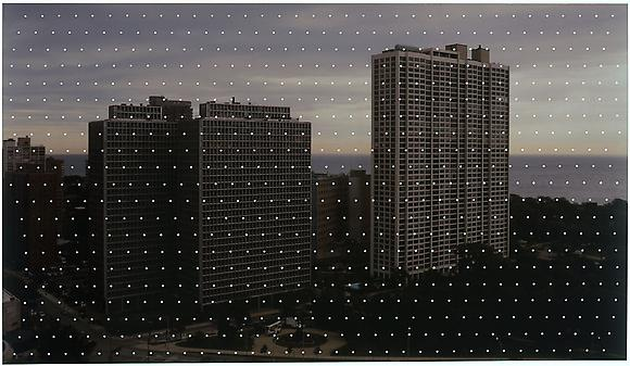 <i>Untitled</i>, 2008 Acrylic on archival pigment print 16 x 28 inches 40.6 x 71.1 cm