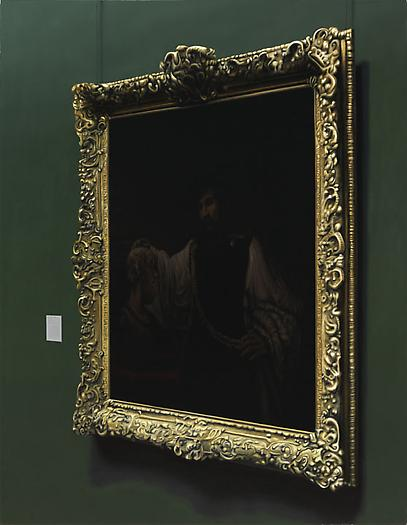 Aristotle Contemplating Bust of Homer, 2009 Oil on canvas 49 x 38 in. 124.5 x 96.5 cm