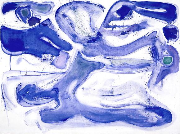 Blue d'Arcueil (SFP60-3), 1960 Acrylic on linen 38 3/4 x 51 1/2 in. 98.4 x 130.8 cm