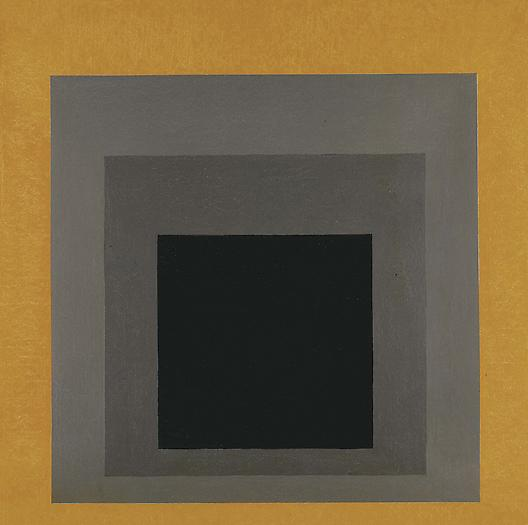 Homage to the Square: Grisaille with Gold, 1961 Oil on masonite 48 x 48 in. 121.9 x 121.9 cm