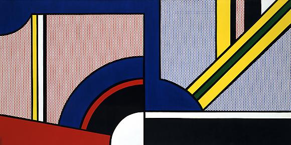 Modern Painting with Division, 1967 Oil and magna on canvas 42 x 84 in. 106.7 x 213.4 cm
