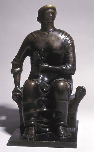 Seated Figure, 1949 Bronze 17 x 9 x 9 3/4 in.  43.2 x 22.9 x 24.8 cm