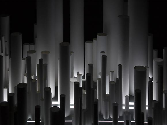 Installation No. 6 (Tubes), 2009 Digital video on freestanding 21-inch analog television monitor with two hundred 250g paper objects Running time: 10 minutes