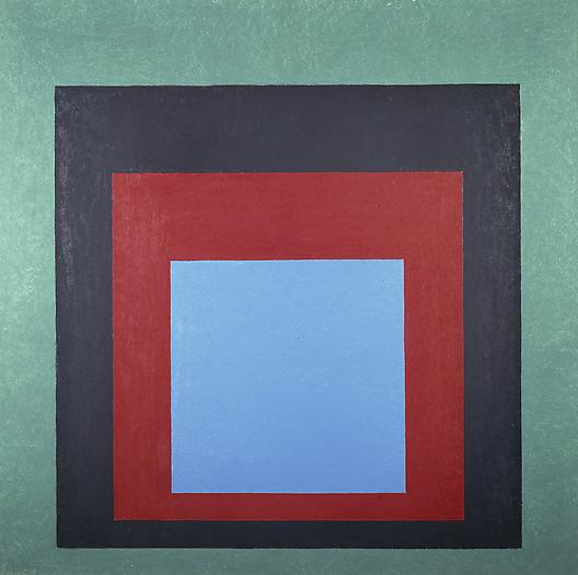 "Homage to the Square: ""Frontward"", 1957 Oil on masonite 40 x 40 in. 101.6 x 101.6 cm"