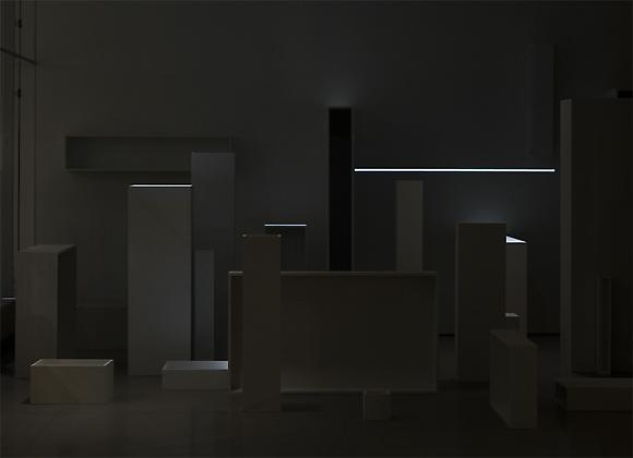 Installation No. 10 Two-channel digital video projection, wood objects, book, text Running time: 30 minutes Installed at the Spertus Institute, Chicago