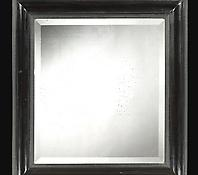 An Ebony Ripple Framed Mirror in the Seventeenth Century Taste