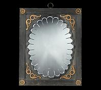 An Early Nineteenth Century Carved, Ebonised and Gilt-Brass Mounted Mirror & a later copy