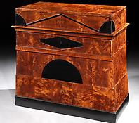 An Ebony & Satin Birch Commode