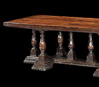 A Large Seventeenth Century Walnut Refectory Table
