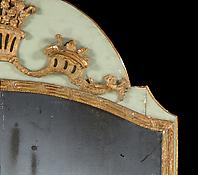 A Louis XVI Pale-Green Painted & Giltwood Sectional Pier Mirror