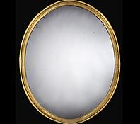 A George IV Oval Giltwood Mirror