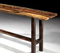 A Mid-Tweentieth Century Solid Macassar Ebony Side Table