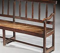 A Late Nineteenth Century Oak Bench