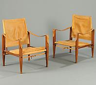 A Pair of 'Safari' Chairs.