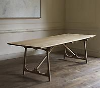 Folding 'Campaign' Refectory Table