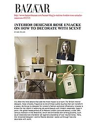 Harper's Bazaar - How to decorate with scent