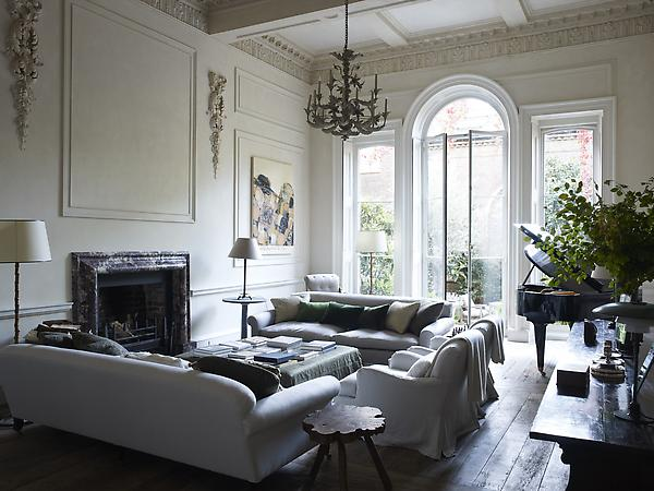 Decordemon rose uniacke s house in london - English style interior design rigor and comfort ...