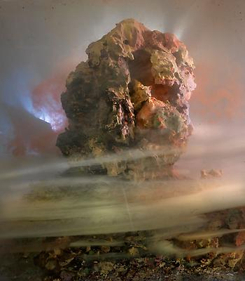 Kim Keever Eroded Head 86d, 2010 edition of 10 + 1 AP c-print 27 x 24 inches Image