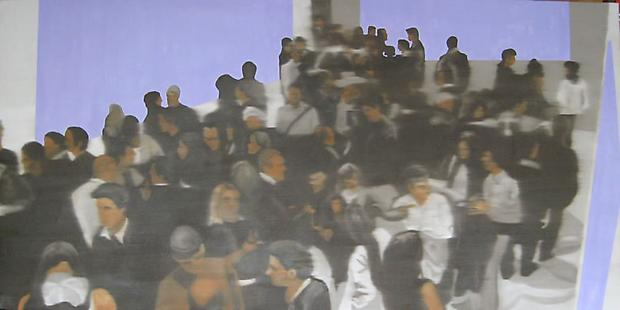 Douglas C. Bloom Congregation, 2009 Oil on Canvas 36 x 72 inches Image