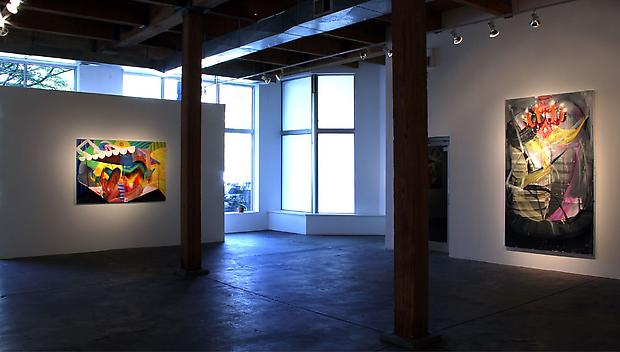 Andrew Holmquist, Worlds Collide!, installation view at Carrie Secrist Gallery, 2011 Image