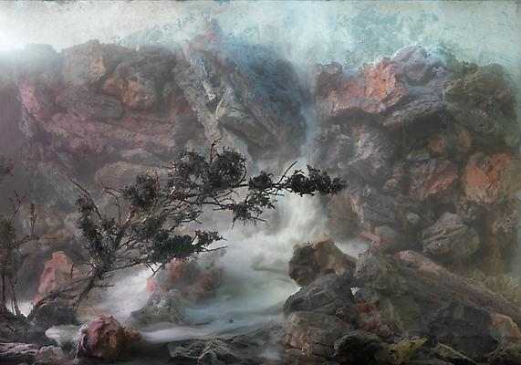 Kim Keever Waterfall 56f, 2010 edition of 6 + 1 AP c-print 50 x 70 inches Image