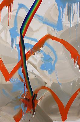 A Bigger Rainbow, 2011, oil on canvas, 72 x 48 inches Image