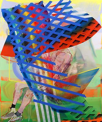 Stronghold, 2011, oil and spray-paint on canvas, 72 x 60 inches Image