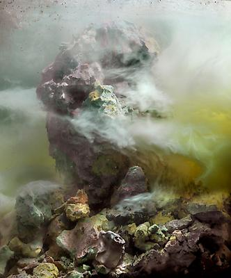 Kim Keever Eroded Head 104e, 2010 edition of 10 + 1 AP c-print 27 x 24 inches Image