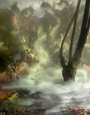 Kim Keever Waterfall 04j, 2010 edition of 6 + 1 AP c-print 54 x 70 inches Image