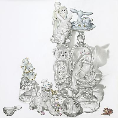 Melodie Provenzano White Wedding, 2010 Graphite, gouache and 24k gold leaf on paper 11 x 11 inches Image