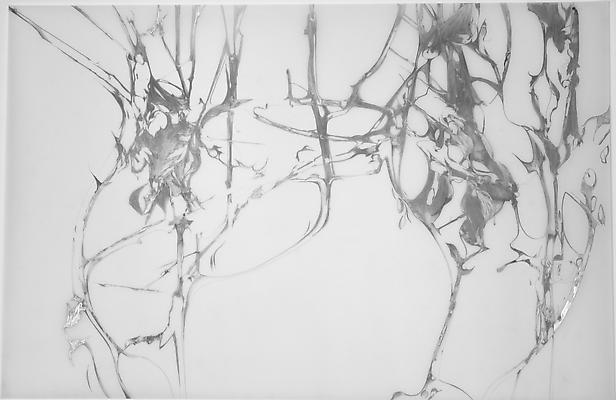 Lattice and Tension (03), 2012 Graphite on Mylar 42 x 27.5 inches Image