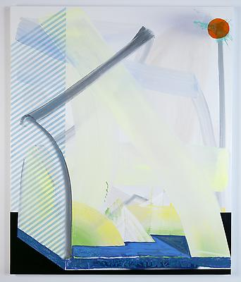 Basketball Goldfish, 2013 Oil and spray-paint on canvas 58 x 48 inches Image