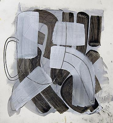 Slip, 2012 Acrylic and graphite on paper 11 x 10 inches Image