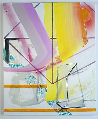 Total Fitness, 2013 Oil and spray-paint on canvas 58 x 48 inches Image