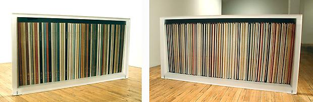 Bookcase #1 (spines &amp; fore ends), 2004