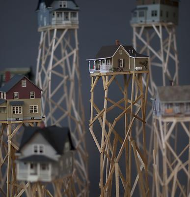 Homeland, 2012 Detail Wood, plastic model houses Dimensions variable Image