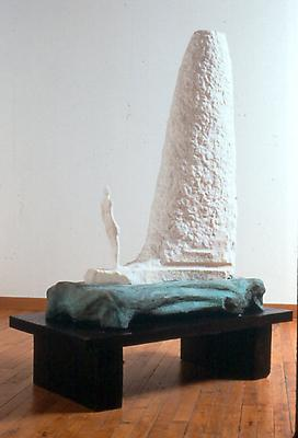 The Invention of Verbs, 1999 marble, bronze, and wood 47 x 32 x 9 1/4 inches Image