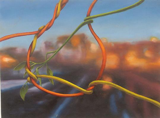 Tangle #31, 2010 oil on wood panel 12 x 16 inches Image